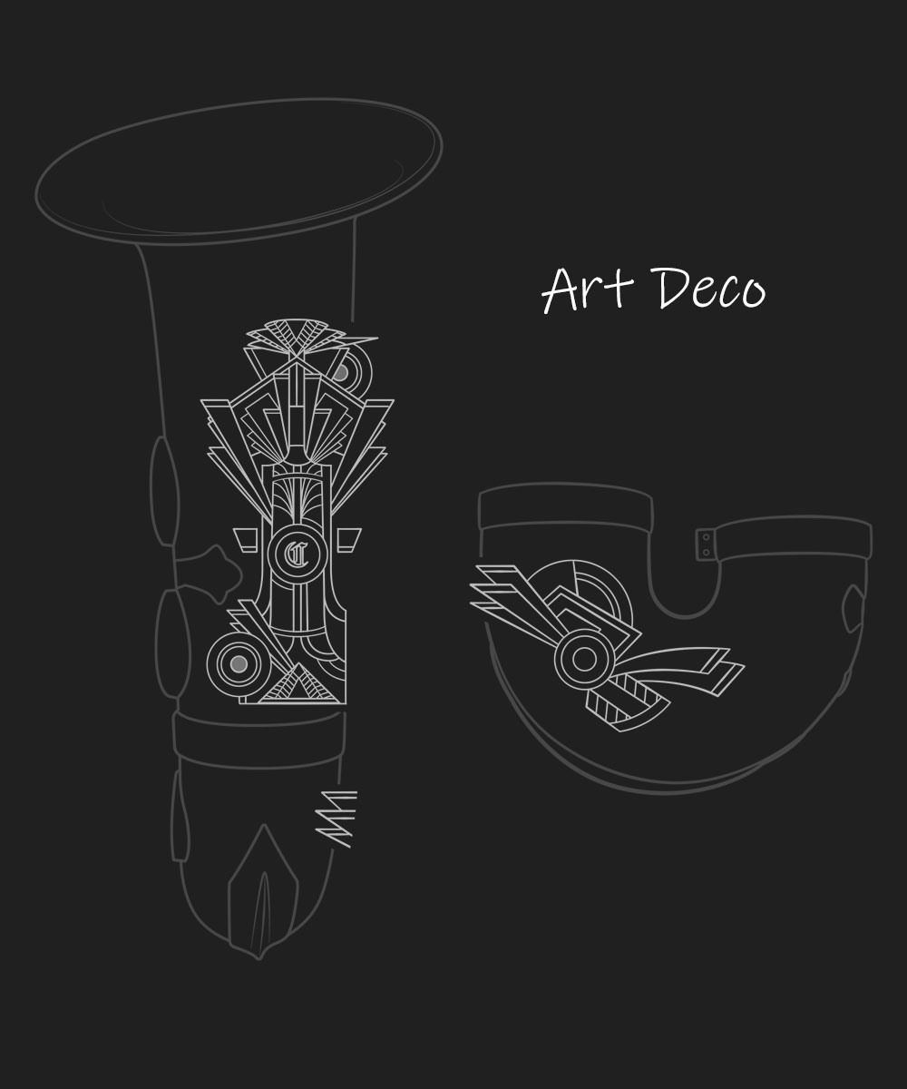 Art Deco Premium Engraving