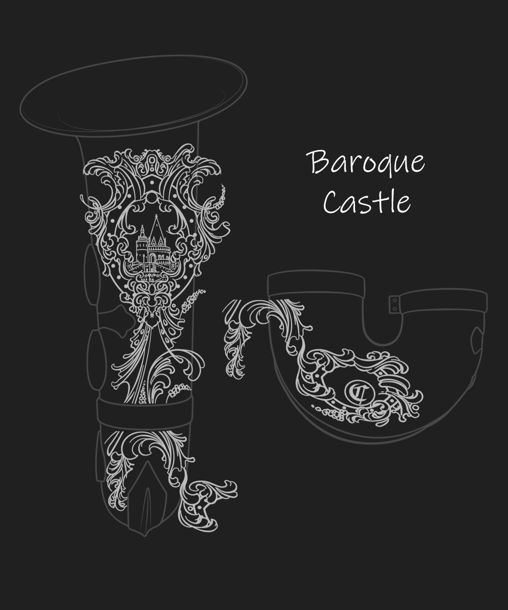 Baroque Castle Premium Engraving