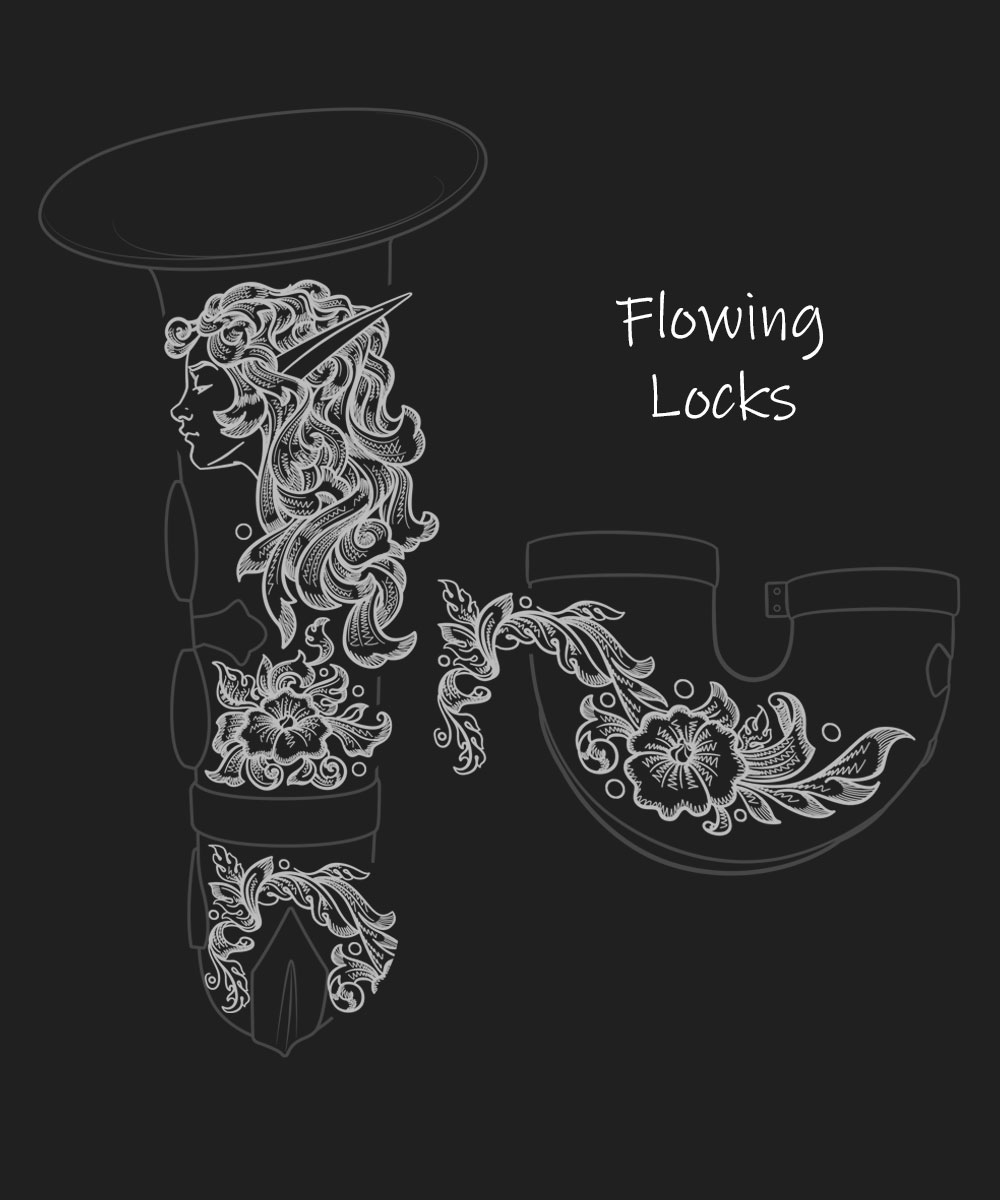 Flowing Locks Premium Engraving