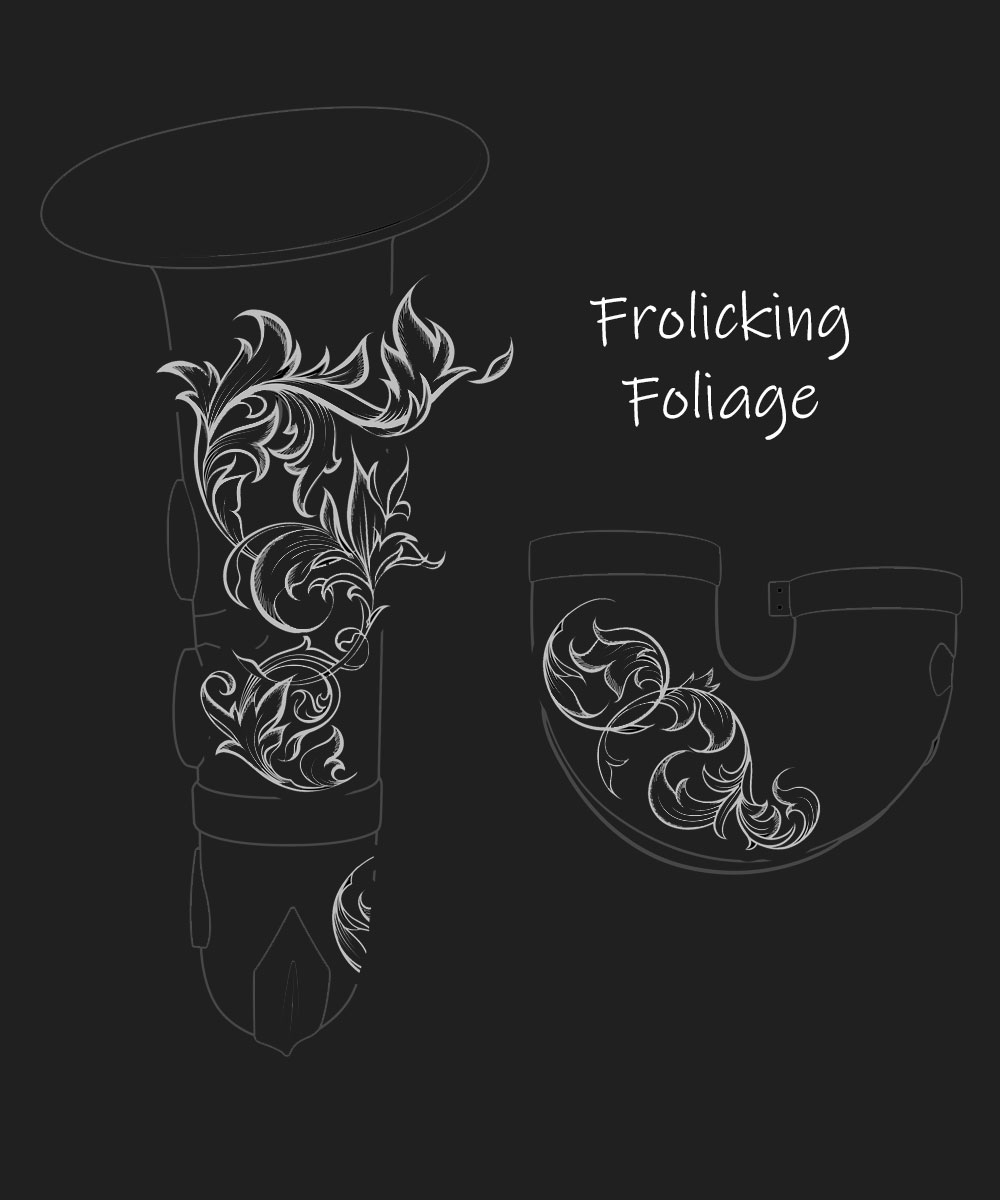 Frolicking Foliage Premium Engraving