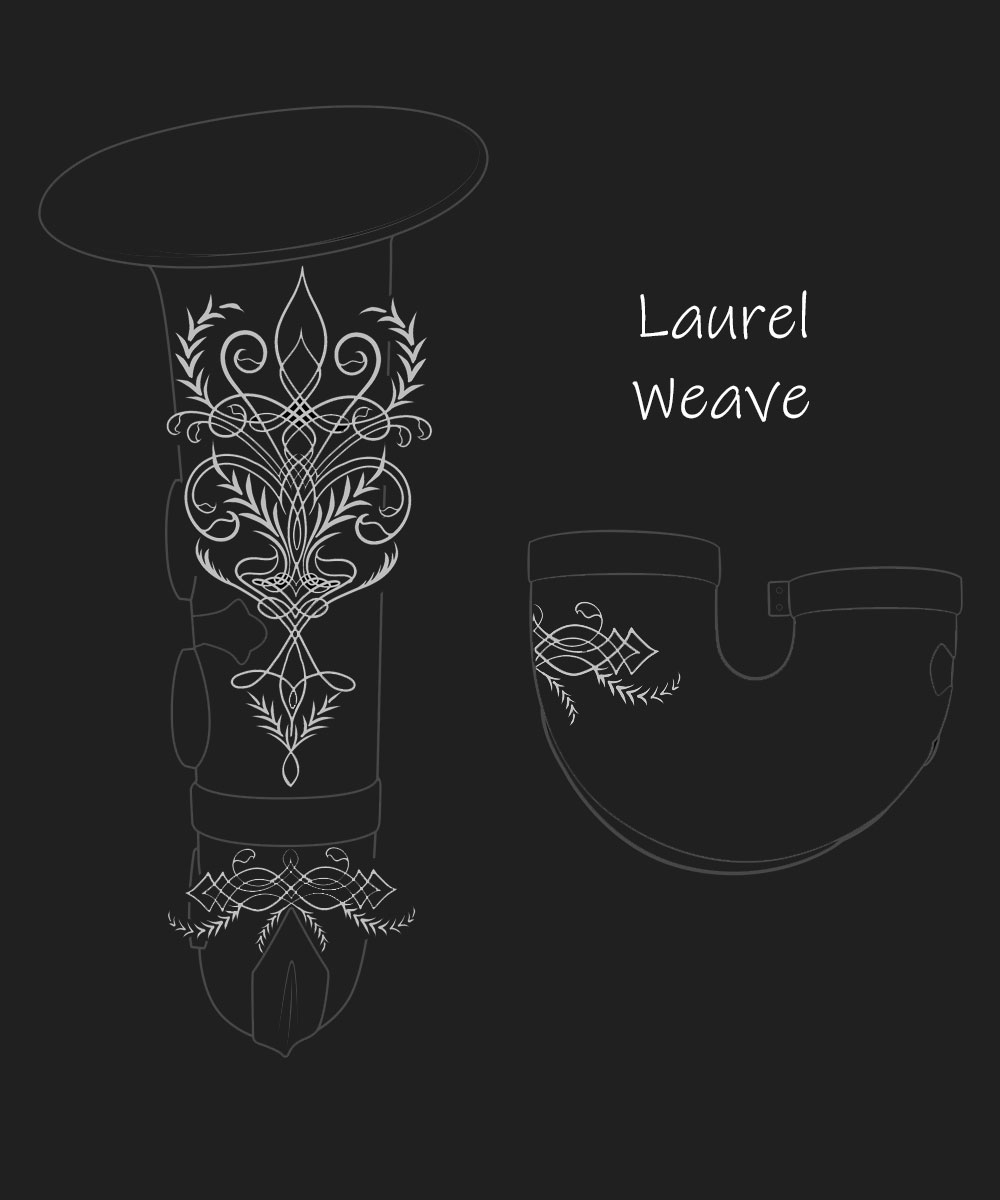 Laurel Weave Premium Engraving