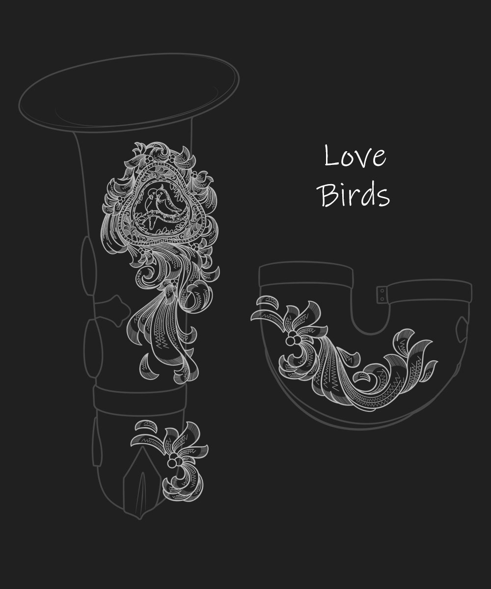 Love Birds Premium Engraving