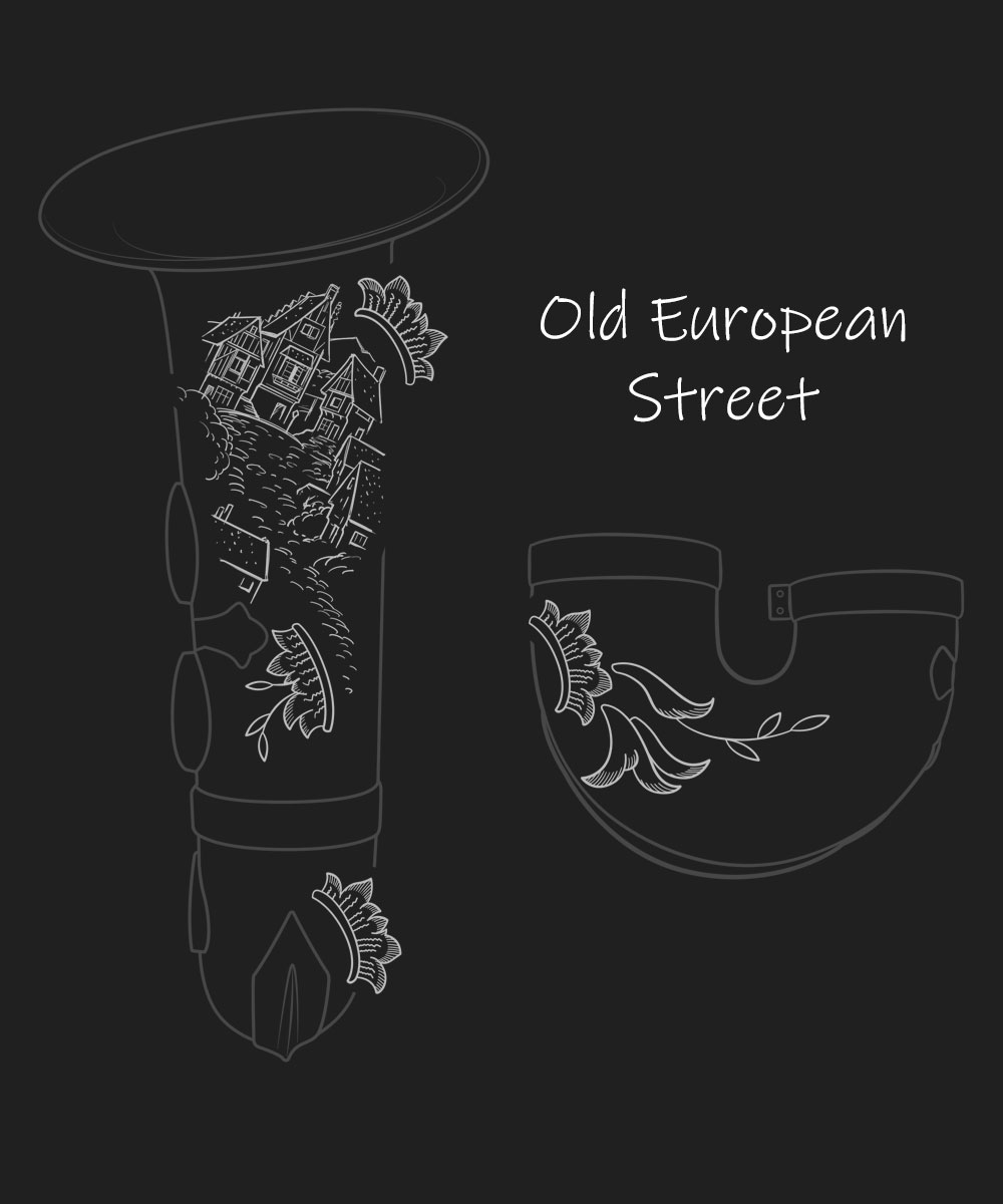 Old European Street Premium Engraving