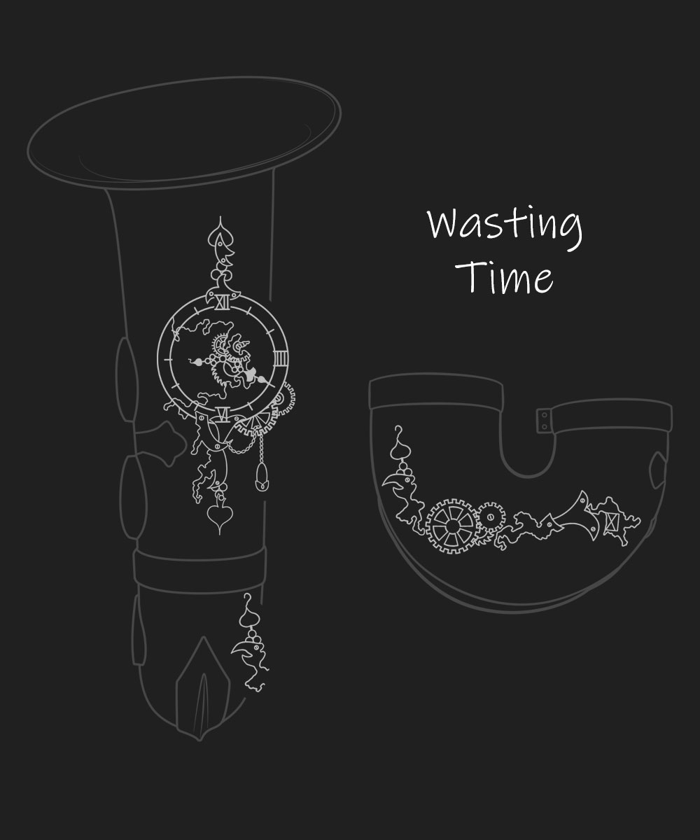 Wasting Time Premium Engraving