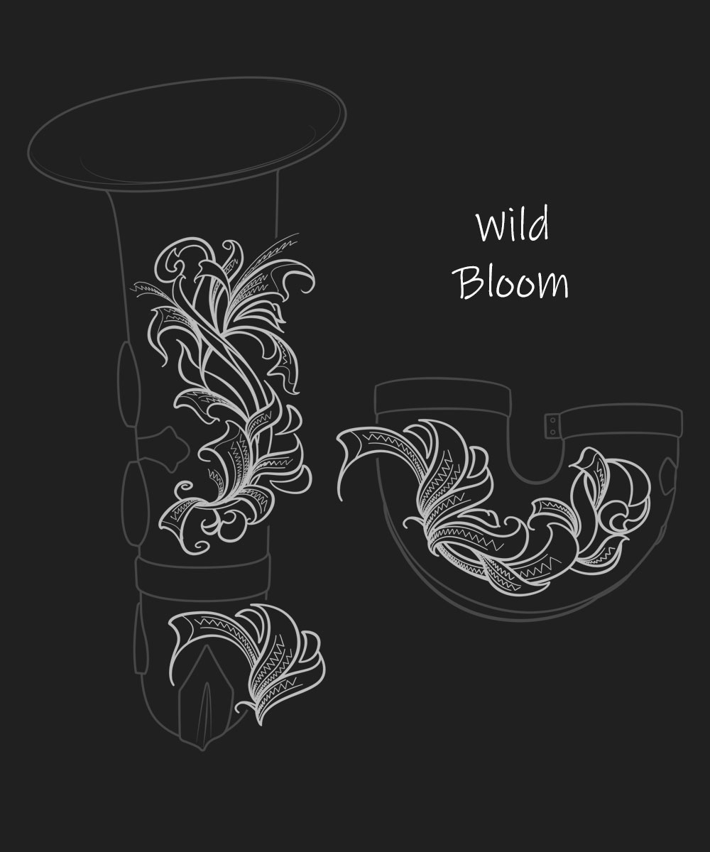 Wild Bloom Premium Engraving