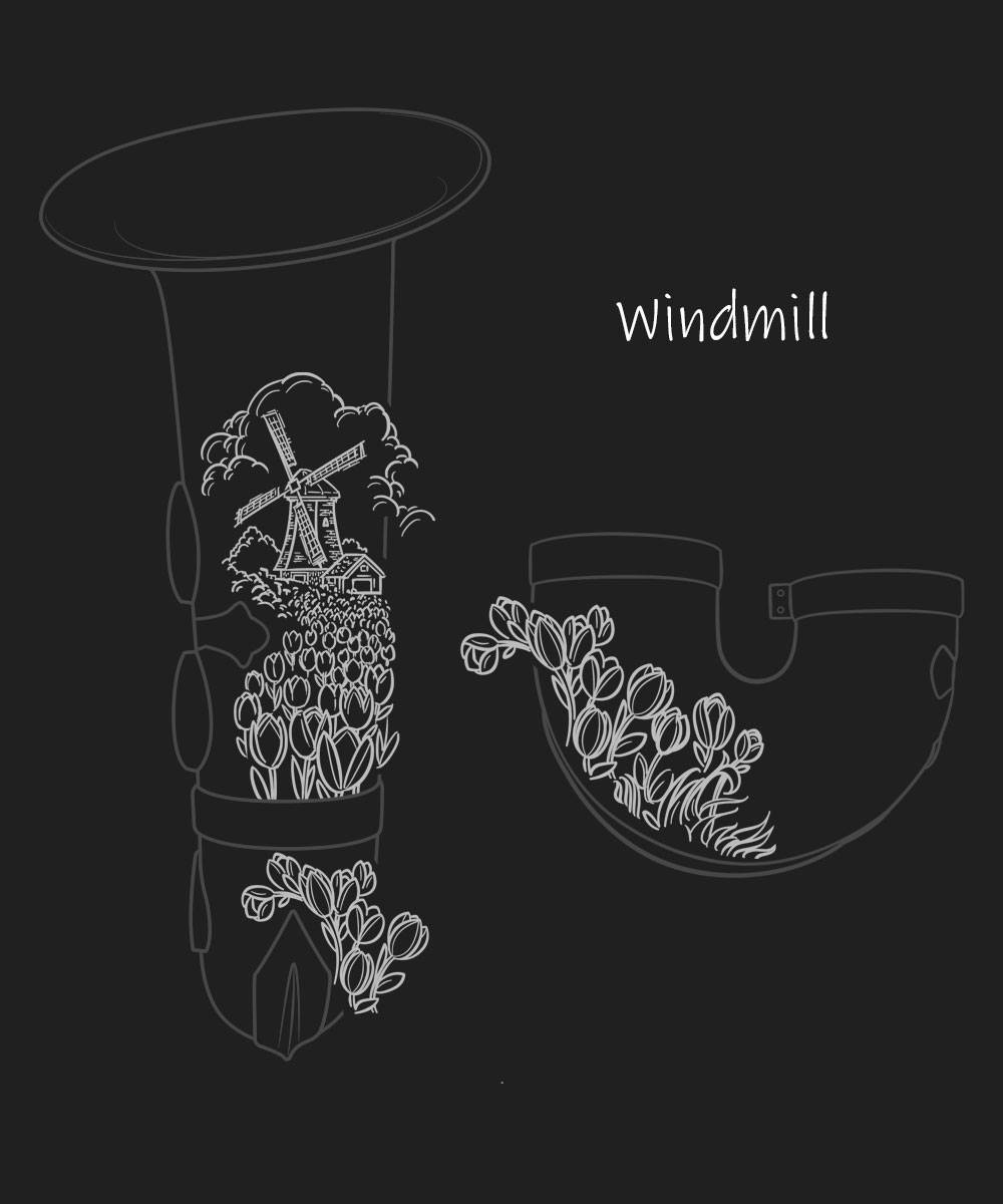 Windmill Premium Engraving